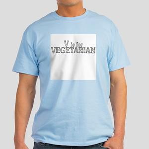 V is for vegetarian (light t-shirt)