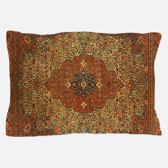 Antique Tabriz Pattern Pillow Case