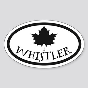 Whistler Maple Leaf Sticker (Oval)
