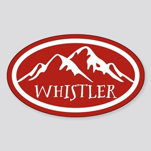 Whistler Mountain Sticker (Oval)