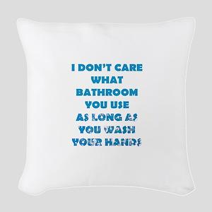 Don't Care Woven Throw Pillow