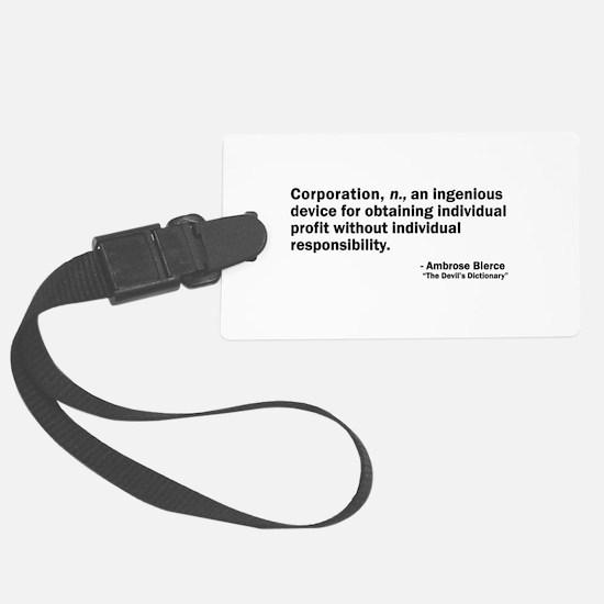 Corporation Luggage Tag