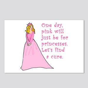 Pink Princess Find a Cure Postcards (Package of 8)