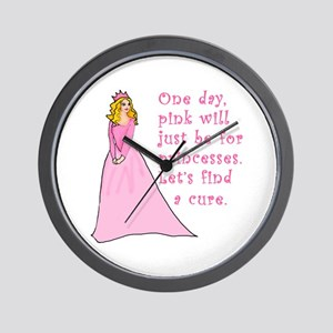Pink Princess Find a Cure Wall Clock