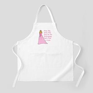 Pink Princess Find a Cure BBQ Apron