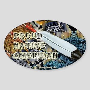 Proud Native American #2 Oval Sticker