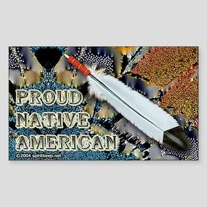 Proud Native American #2 Sticker (Rect.)