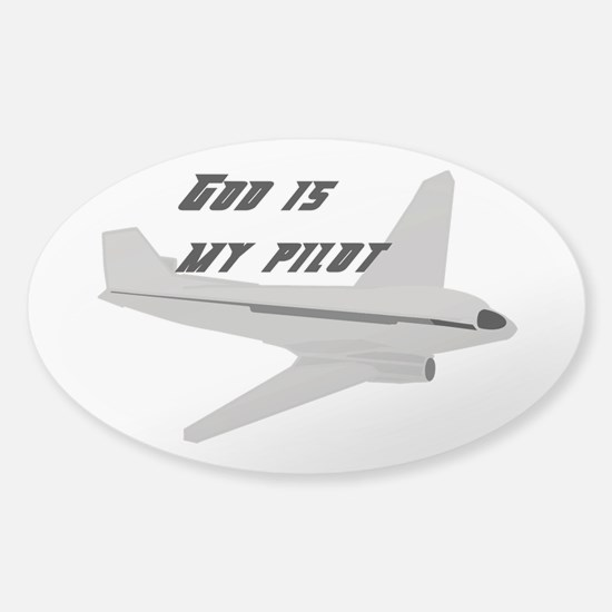 God is my pilot Decal