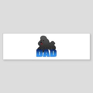 Black Poodle Dad Sticker (Bumper)