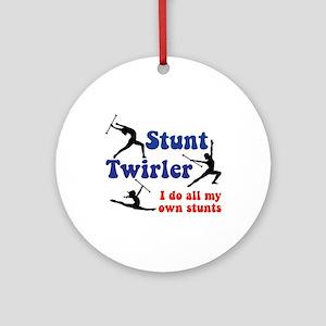 Stunt Twirler Ornament (Round)