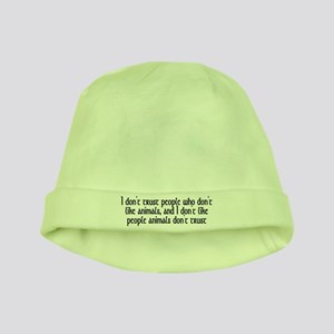 People who don't like animals - baby hat