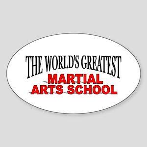 """The World's Greatest Martial Arts School"" Sticker"