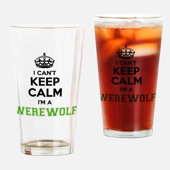 Cute Werewolf Drinking Glass