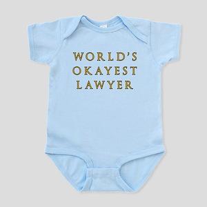 World's Okayest Lawyer Baby Light Bodysuit