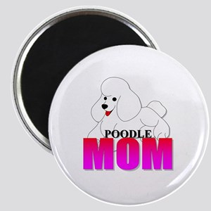 White Poodle Mom Magnet