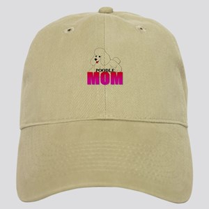 White Poodle Mom Cap