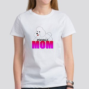 White Poodle Mom Women's T-Shirt