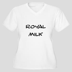 Royal Milk Women's Plus Size V-Neck T-Shirt