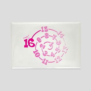 Sweet 16 Spiral Rectangle Magnet