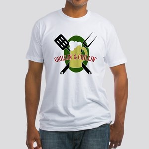 Chillin' & Grillin' Fitted T-Shirt