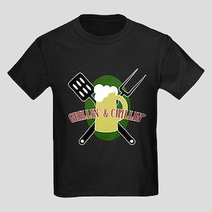 Chillin' & Grillin' Kids Dark T-Shirt