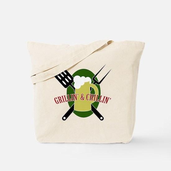 Chillin' & Grillin' Tote Bag