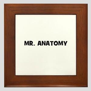 Mr. Anatomy Framed Tile