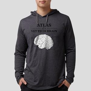 Atlas of a Vet Tech Brain Mens Hooded Shirt