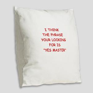 master Burlap Throw Pillow