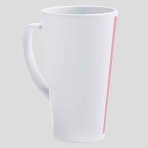 Cute Pink Flamingo 17 oz Latte Mug
