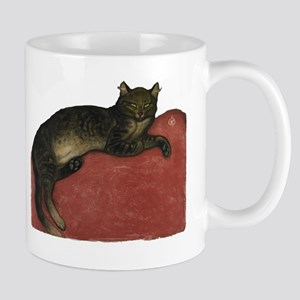 Cat on a Cushion Mug