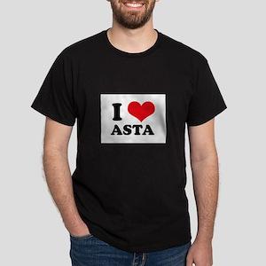 I Love Heart Asta Dark T-Shirt