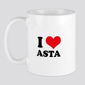 I Love Heart Asta Mug
