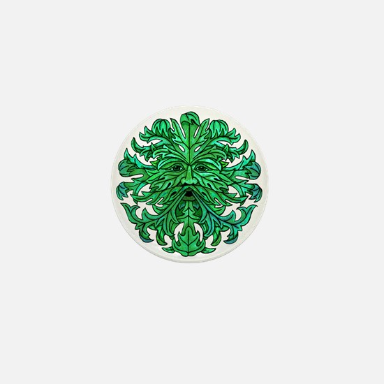 Green Man Gaze Mini Button