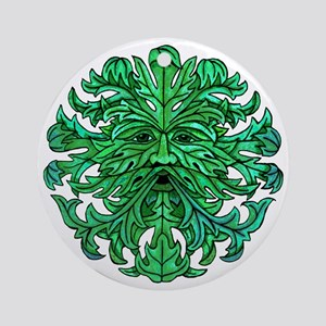Green Man Gaze Ornament (Round)