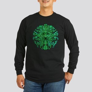 Green Man Gaze Long Sleeve Dark T-Shirt