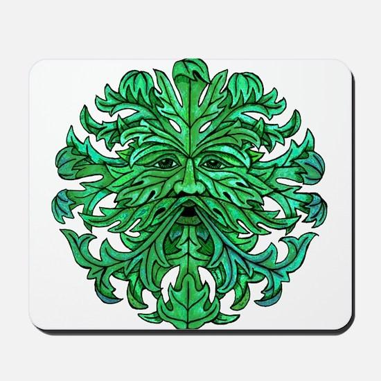 Green Man Gaze Mousepad