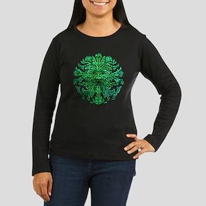 Green Man Gaze Women's Long Sleeve Dark T-Shirt