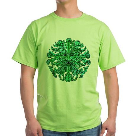 Green Man Gaze Green T-Shirt