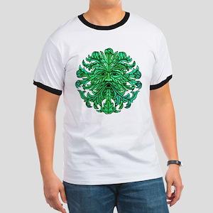 Green Man Gaze Ringer T