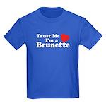 Trust Me I'm a Brunette Kids Dark T-Shirt