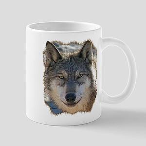 Gray Wolf Face Mug Mugs
