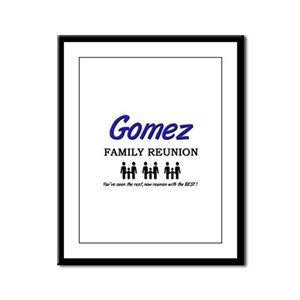 Gomez Family Reunion Framed Panel Print