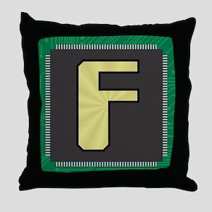 CIRCUIT BOARD F Throw Pillow