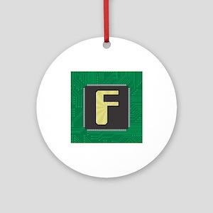 CIRCUIT BOARD F Ornament (Round)
