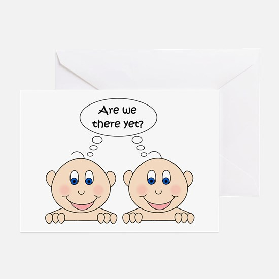 Are we there yet? Twins Greeting Cards (Package of