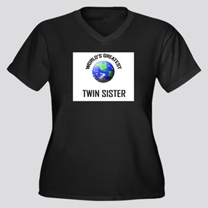 World's Greatest TWIN SISTER Women's Plus Size V-N