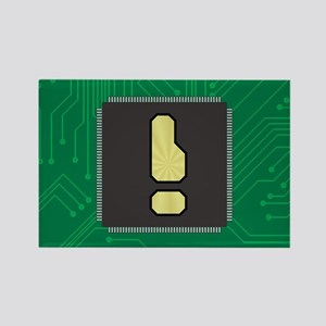 CIRCUIT BOARD ! Rectangle Magnet