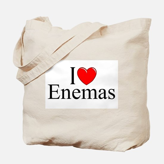 """I Love (Heart) Enemas"" Tote Bag"