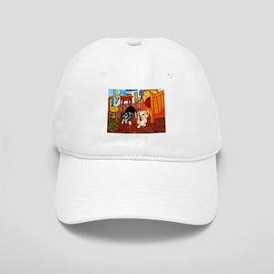 Double Dachshunds Van Gogh Cap